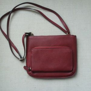 Joy Susan vegan leather burgundy crossbody bag